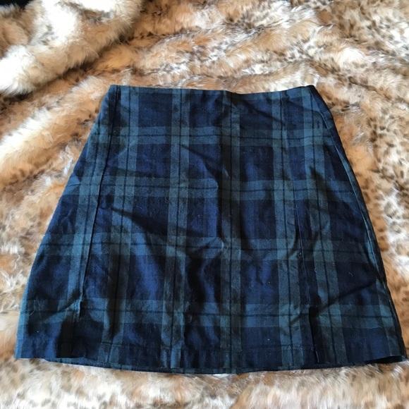 PacSun Dresses & Skirts - Green and navy mini skirt